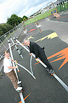 Sam Lister and Cllr Oliver Tully at the unfinished Playground in Clogherhead....Photo NEWSFILE/Jenny Matthews.(Photo credit should read Jenny Matthews/NEWSFILE)....This Picture has been sent you under the condtions enclosed by:.Newsfile Ltd..The Studio,.Millmount Abbey,.Drogheda,.Co Meath..Ireland..Tel: +353(0)41-9871240.Fax: +353(0)41-9871260.GSM: +353(0)86-2500958.email: pictures@newsfile.ie.www.newsfile.ie.FTP: 193.120.102.198.