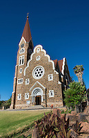Windhoek Namibia Africa famous historical Christ Church cathedral