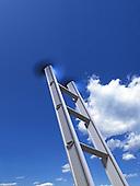 Ladder causing dent in sky