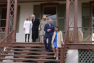 Washington, DC - March 19, 2015: His Royal Highness The Prince of Wales, accompanied by The Duchess of Cornwall (c), tours the Lincoln Cottage and Soldiers Home in the District of Columbia,  March 19, 2015, as part of a four-day USA visit. Prince Charles has officially visited the United States 19 times since 1970. From left: Susan and Lester Fant, The Duchess of Cornwall, The Prince of Wales and Michelle Smith, Benefactor of the Lincoln Cottage. (Photo by Don Baxter/Media Images International)