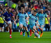 8th March 2020; Murrayfield Stadium, Edinburgh, Scotland; International Six Nations Rugby, Scotland versus France; George Horne of Scotland chases a loose ball
