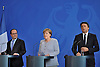 june 27-16, German Chancellor Merkel, French President Hollande,Italian Prime Minister  Renzi meet t