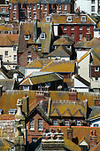 Roof Tops in the Old Town of Hastings, East Sussex, United Kingdom, England