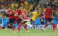 Neymar is felled in the Penalty Area