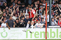 Armani Little of Woking celebrates his goal in the first half during Woking vs Welling United, Vanarama National League South Promotion Play-Off Final Football at The Laithwaite Community Stadium on 12th May 2019