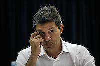 SAO PAULO, SP, 04 AGOSTO 2012 - ELEICOES SP - FERNANDO HADDAD - Candidato à prefeitura de São Paulo pelo PT Fernando Haddad durante encontro no Sindicato dos Químicos na Liberdade em São Paulo (SP), na tarde deste sábado, 04. FOTO: VANESSA CARVALHO / BRAZIL PHOTO PRESS)