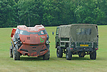 Converted Judge Dredd 101 and original 101. Dunsfold Collection Open Day 2009. NO RELEASES AVAILABLE.