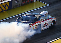 Sep 2, 2016; Clermont, IN, USA; NHRA pro mod driver Khalid Albalooshi during qualifying for the US Nationals at Lucas Oil Raceway. Mandatory Credit: Mark J. Rebilas-USA TODAY Sports