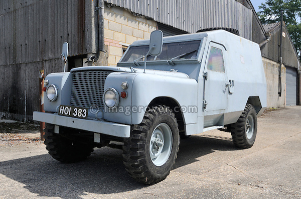 Shorland Land Rover S2a 109in armoured car prototype - HOI383. Dunsfold Collection of Land Rovers 2011, Dunsfold, Surrey, UK. --- No releases available, but releases may not be necessary for certain uses. Automotive trademarks are the property of the trademark holder, authorization may be needed for some uses.