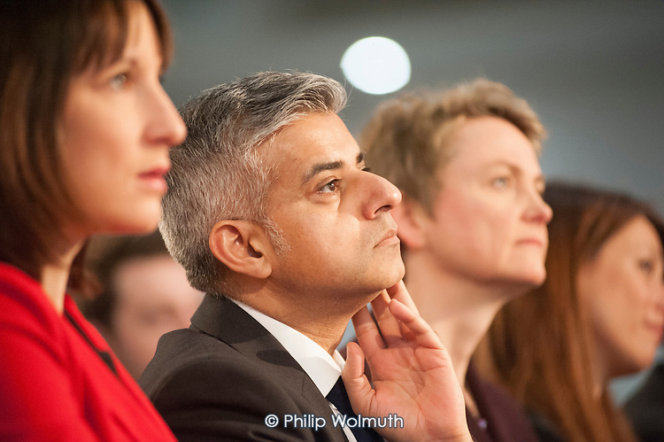 Sadiq Khan MP.  Labour Party Special Conference on reform of its links to trade unions, ExCel Centre, London.