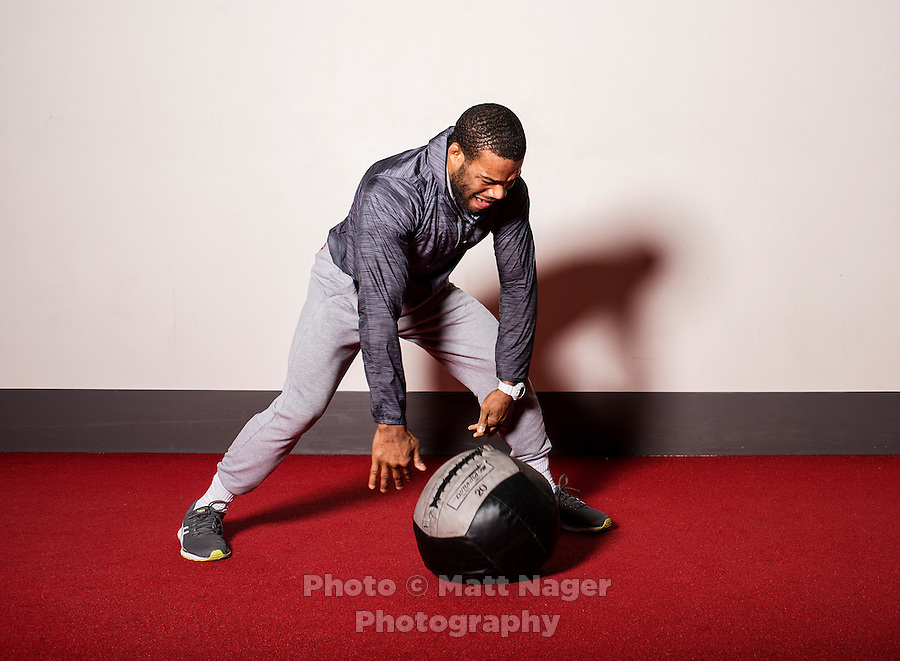 Olympic Gold champion wrestler Jordan Burroughs (cq), trains at the University of Nebraska in Lincoln, Nebraska, Friday, February 12, 2015. Burroughs is training for the upcoming 2016 olympic games in Rio de Janeiro, Brazil where he hopes to win another gold medal. <br /> <br /> Photo by Matt Nager