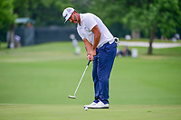 Scott Piercy (USA) watches his birdie attempt barely miss on 6 during round 2 of the Dean &amp; Deluca Invitational, at The Colonial, Ft. Worth, Texas, USA. 5/26/2017.<br /> Picture: Golffile | Ken Murray<br /> <br /> <br /> All photo usage must carry mandatory copyright credit (&copy; Golffile | Ken Murray)