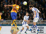 Real Sociedad's Esteban Granero (r) and FC Barcelona's Rafinha Alcantara during La Liga match. April 9,2016. (ALTERPHOTOS/Acero)