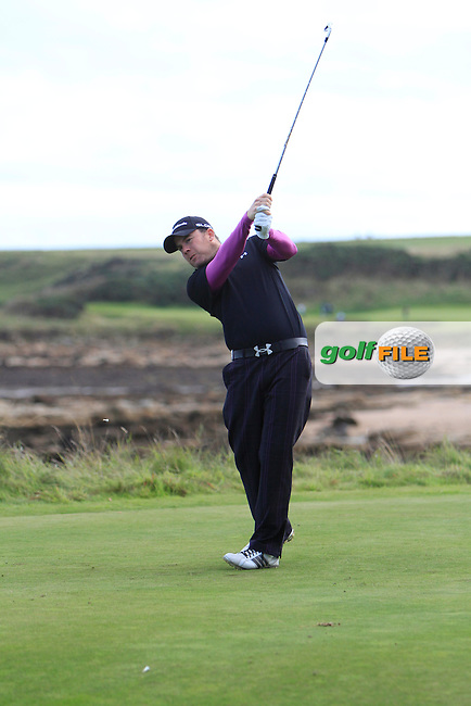 Richie Ramsey (SCO) during Round 1of the Alfred Dunhill Links Championship at Kingsbarns Golf Club on Thursday 26th September 2013.<br /> Picture:  Thos Caffrey / www.golffile.ie