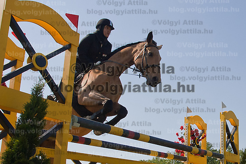Egypt's Aya Medani competes during the Modern Pentathlon Women's World Cup held in Budapest, Hungary on May 07, 2011. ATTILA VOLGYI