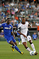 Cory Gibbs #4, Birahim Diop...Kansas City Wizards defeated New England Revolution 4-1 at Community America Ballpark, Kansas City , Kansas.