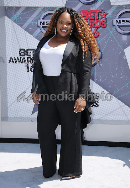 26 June 2016 - Los Angeles. Tasha Cobbs. Arrivals for the 2016 BET Awards held at the Microsoft Theater. Photo Credit: Birdie Thompson/AdMedia