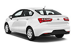 Car pictures of rear three quarter view of 2016 KIA Rio LX-AT 4 Door Sedan Angular Rear
