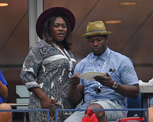 FLUSHING NY- SEPTEMBER 01: Danielle Brooks is seen watching Andy Murray Vs Marcel Granollers on Arthur Ashe Stadium at the USTA Billie Jean King National Tennis Center on September 1, 2016 in Flushing Queens. Credit: mpi04/MediaPunch
