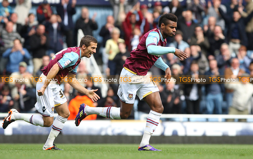 Ricardo Vaz Te scores the 1st goal for West Ham and celebrates - West Ham United vs Brighton & Hove Albion, npower Championship at Upton Park, West Ham - 14/04/12 - MANDATORY CREDIT: Rob Newell/TGSPHOTO - Self billing applies where appropriate - 0845 094 6026 - contact@tgsphoto.co.uk - NO UNPAID USE..