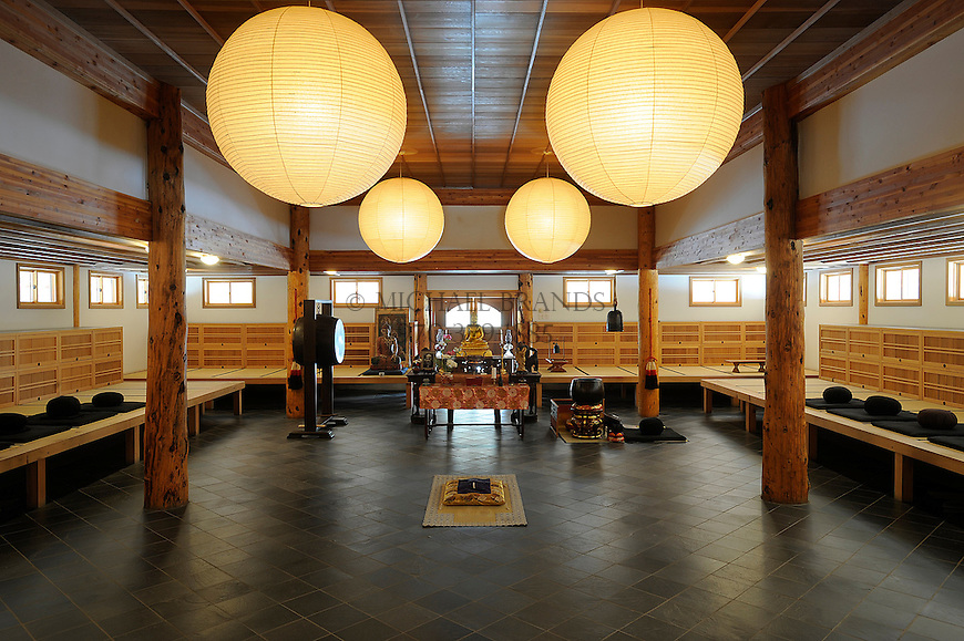The Zendo of the Crestone Mountain Zen Center. Michael Brands for The New York Times.