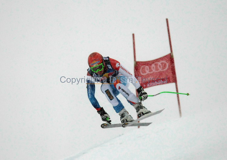 Alpine Ski World Cup Hahnenkamm Downhill..Patrick KUENG on 21/01/2012 in Kitzbuehel, Austria. ..© PierreTeyssot.com