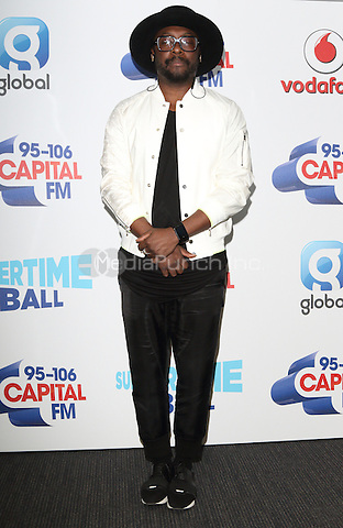 will.i.am at Capital&Otilde;s Summertime Ball with Vodafone at Wembley Stadium, London on June 11th 2016<br /> CAP/ROS<br /> &copy;Steve Ross/Capital Pictures<br /> will.i.am at Capital&rsquo;s Summertime Ball with Vodafone at Wembley Stadium, London on June 11th 2016<br /> CAP/ROS<br /> &copy;Steve Ross/Capital Pictures /MediaPunch ***NORTH AND SOUTH AMERIcAS ONLY***
