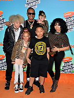 LOS ANGELES, CA. March 23, 2019: T.I., Tiny, Clifford King Joseph Harris III, Layah Amore Harris, Major Philant Harris & Heiress Diana Harris at Nickelodeon's Kids' Choice Awards 2019 at USC's Galen Center.<br /> Picture: Paul Smith/Featureflash