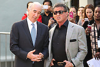 HOLLYWOOD, CA - JANUARY 22: Gary Barber, Sylvester Stallone at the Metro-Goldwyn-Mayer 90th Anniversary Celebration held at the TCL Chinese Theatre on January 22, 2014 in Hollywood, California. (Photo by Xavier Collin/Celebrity Monitor)