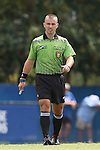 06 September 2015: Referee Chris Penso. The Duke University Blue Devils hosted the University of California Bears at Koskinen Stadium in Durham, NC in a 2015 NCAA Division I Women's Soccer match. California won the game 3-1.