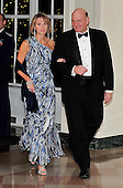 Steven Ballmer, CEO, Microsoft Corporation, and his wife, Connie, arrive for the State Dinner in honor of President Hu Jintao of China at the White House In Washington, D.C. on Wednesday, January 19, 2011. .Credit: Ron Sachs / CNP