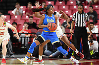 College Park, MD - March 25, 2019: UCLA Bruins guard Kennedy Burke (22) makes a move to the basket during second round game of NCAAW Tournament between UCLA and Maryland at Xfinity Center in College Park, MD. UCLA advanced to the Sweet 16 defeating Maryland 85-80.(Photo by Phil Peters/Media Images International)
