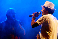 """Mestre Faustino.<br /> <br /> XXX Festival de Música de Ourém<br /> <br /> O Festival da Canção do município de Ourém, nordeste paraense, considerado um dos mais antigos em atividade no Brasil, realizou sua 30ª edição, no ultimo sábado (26), no Complexo Cultural e Turístico, no palco da concha acústica municipal. O evento iniciou na quinta (24) com a primeira eliminatória e a segunda na sexta (25) foram classificadas quatorze músicas, sendo sete de cada eliminatória para a finalissíma do festival.<br /> <br /> A grande vencedora do XXX Festival, ficando em primeiro lugar foi à canção """"Cantiga de Lelê"""", de Marcos Campelo, que conseguiu a aprovação dos jurados e somou maior pontuação entre as participantes. A mesma canção, ainda levou o prêmio de Melhor Arranjo do festival.<br /> <br /> O primeiro e segundo lugar foi dividido entre as músicas: """"Vestida como a Flor"""", de Lula Barbosa e Clodoaldo Ferreira, e """"Rios de Anseios"""", de Paulo Moura e Marcela Moura.<br /> <br /> Ainda foram premiados: A canção, """"Manoela"""" de Alderico Ayres,como Melhor Música de Ourém no Festival. Andrea Pinheiro como Melhor Interpreta, defendendo a música """"Rios de Anseio"""" de Paulo e Marcela Moura.<br /> <br /> Ourém, Pará, Brasil.<br /> Foto Carlos Barretto<br /> 25/07/2014"""