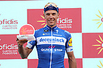 Philippe Gilbert (BEL) Deceuninck-Quick Step wins Stage 17 of La Vuelta 2019, the fastest stage ever in the history of Grand Tours at 50.6km/h, running 219.6km from Aranda de Duero to Guadalajara, Spain. 11th September 2019.<br /> Picture: Luis Angel Gomez/Photogomezsport | Cyclefile<br /> <br /> All photos usage must carry mandatory copyright credit (© Cyclefile | Luis Angel Gomez/Photogomezsport)