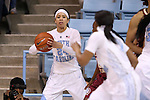 12 February 2015: North Carolina's Jessica Washington. The University of North Carolina Tar Heels hosted the Florida State University Seminoles at Carmichael Arena in Chapel Hill, North Carolina in a 2014-15 NCAA Division I Women's Basketball game. UNC won the game 71-63.