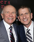 """Terrence McNally and Tom Kirdahy attending the Broadway Opening Night Performance After Party for """"Mothers and Sons"""" at Sardi's Restaurant on March 24, 2014 in New York City."""