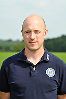 Physiotherapist Brent Taylor poses for a portrait at the squad photocall. Bath Rugby Media Day on August 27, 2013 at Farleigh House in Bath, England. Photo by: Patrick Khachfe/Onside Images