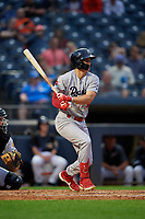 Reading Fightin Phils Mickey Moniak (3) at bat during an Eastern League game against the Akron RubberDucks on June 4, 2019 at Canal Park in Akron, Ohio.  Akron defeated Reading 8-5.  (Mike Janes/Four Seam Images)