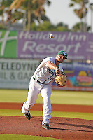 Daytona Tortugas pitcher Barrett Astin (17) on the mound during a game against the Tampa Yankees at Radiology Associates Field at Jackie Robinson Ballpark on June 13, 2015 in Daytona, Florida. Tampa defeated Daytona 8-6. (Robert Gurganus/Four Seam Images)