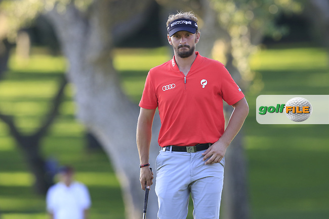Joost Luiten (NED) on the 18th green during Saturday's Round 3 of the 2017 Valderrama Masters hosted be Fundacion Sergio Garcia, held at Real Club Valderrama, Sotogrande, Andalucia, Spain. 21st October 2017.<br /> Picture: Eoin Clarke | Golffile<br /> <br /> <br /> All photos usage must carry mandatory copyright credit (&copy; Golffile | Eoin Clarke)