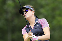 Paula Creamer (USA) tees off the 13th tee during Thursday's Round 1 of The Evian Championship 2018, held at the Evian Resort Golf Club, Evian-les-Bains, France. 13th September 2018.<br /> Picture: Eoin Clarke | Golffile<br /> <br /> <br /> All photos usage must carry mandatory copyright credit (&copy; Golffile | Eoin Clarke)