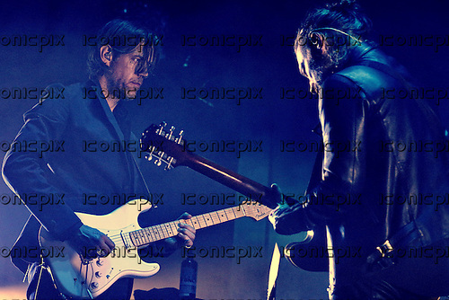 RADIOHEAD - Jonny Greenwood and Thom Yorke - performing live at Le Zenith in Paris France - 23 May 2016.  Photo credit: Roberto Gil/Dalle/IconicPix ** UK ONLY **