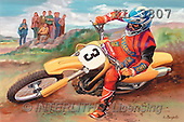 Interlitho, Luis, MASCULIN, paintings, motocross, yellow bike(KL3807,#M#)