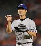 Yu Darvish (Rangers),<br /> AUGUST 6, 2013 - MLB :<br /> Pitcher Yu Darvish of the Texas Rangers during the Major League Baseball game against the Los Angeles Angels at Angel Stadium in Anaheim, California, United States. (Photo by AFLO)