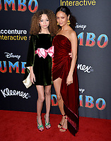 LOS ANGELES, CA. March 11, 2019: Nico Parker &amp; Thandie Newton at the world premiere of &quot;Dumbo&quot; at the El Capitan Theatre.<br /> Picture: Paul Smith/Featureflash