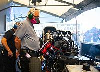 May 6, 2018; Commerce, GA, USA; NHRA funny car team owner Jim Head during the Southern Nationals at Atlanta Dragway. Mandatory Credit: Mark J. Rebilas-USA TODAY Sports