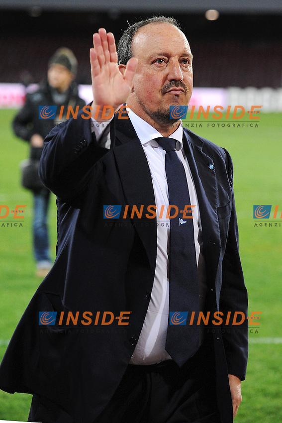Rafael Benitez Napoli <br /> Napoli 08-02-2014 Stadio San Paolo - Football Calcio Serie A 2013/2014 Napoli - Milan Foto Andrea Staccioli / Insidefoto