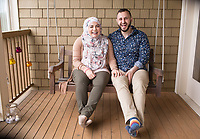 "SEATTLE, WA-APRIL 17, 2017: Amanda Saab, along with her husband Hussein Saab, co-hosted a ""dinner with your Muslim neighbor"" at the home of Stefanie and Nason (cq) Fox in Seattle, WA on a return trip April 17th 2017. The couple now live in Detroit. The guests are <br /> Anjana Agarwal (black top), Patricia Rangel (black top with pattern), and Greg and Charissa (white top) Pomrehn.<br /> <br /> (Photo by Meryl Schenker/For The Washington Post)"