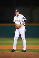 San Antonio Missions relief pitcher Kyle Lloyd (29) gets ready to deliver a pitch during a game against the Midland RockHounds on April 22, 2016 at Nelson W. Wolff Municipal Stadium in San Antonio, Texas.  San Antonio defeated Midland 8-4.  (Mike Janes/Four Seam Images)