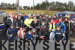 Motorcycle enthusiasts who participated in the Knocknagoshel Bike run in aid of Knocknagoshel Women's over 55 group on Sunday